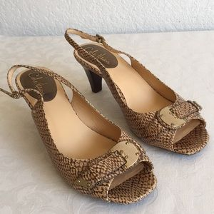 Cole Haan snake skin print leather sandals